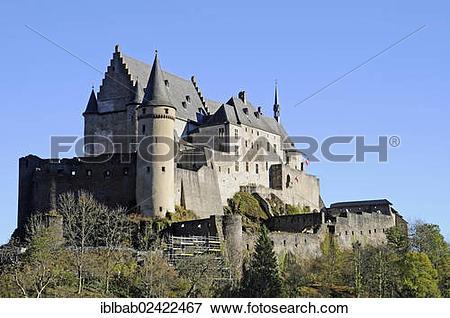 Picture of Chateau de Vianden, Vianden Castle, Vianden, Luxembourg.