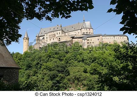 Stock Photo of Vianden castle.