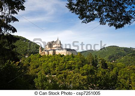 Stock Images of Medieval Castle of Vianden, Luxembourg.