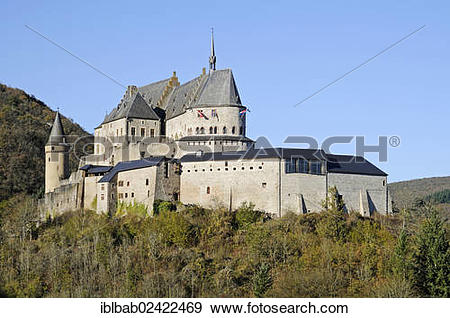 Stock Photograph of Chateau de Vianden, Vianden Castle, Vianden.