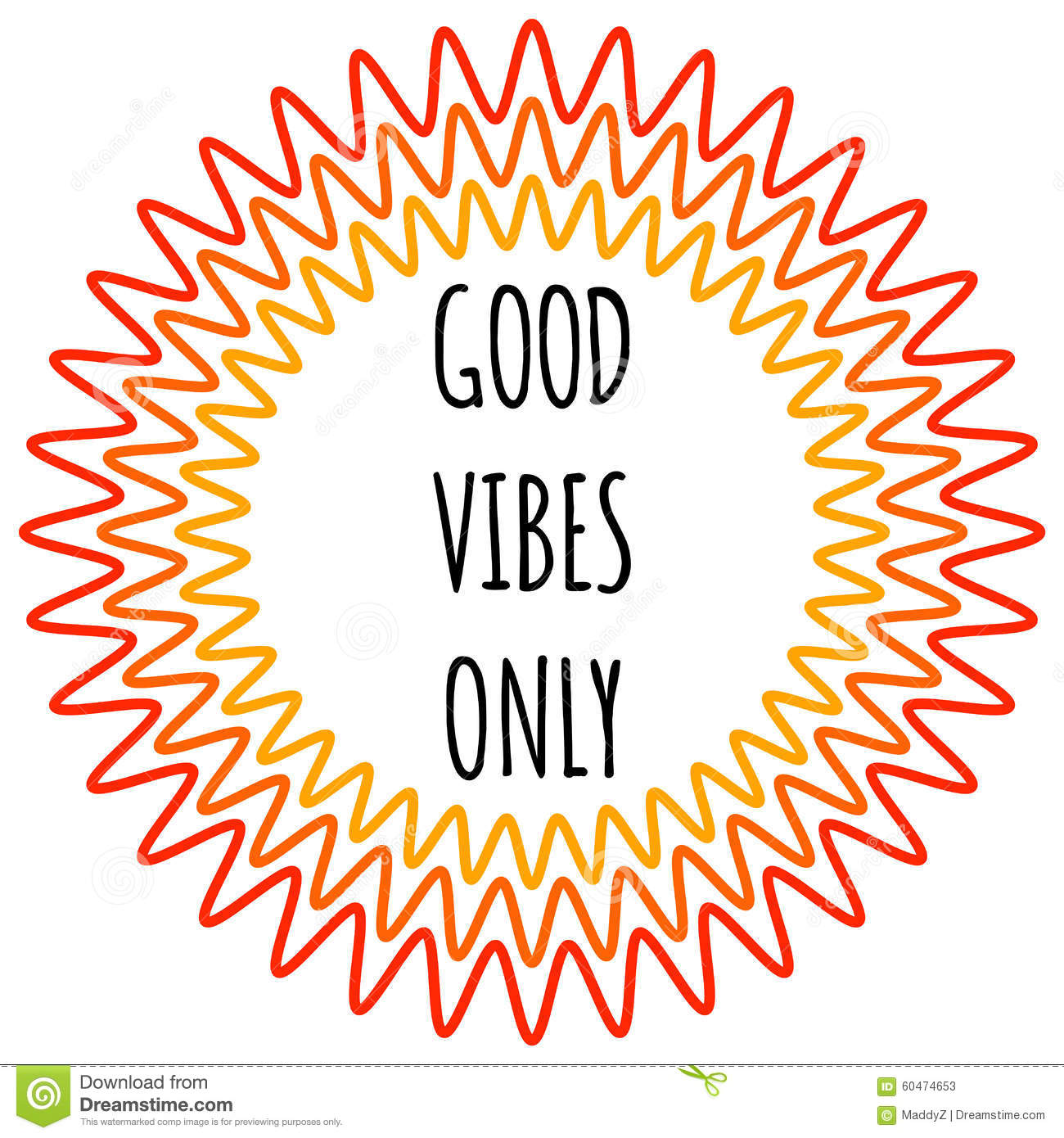 Good Vibes Clipart.