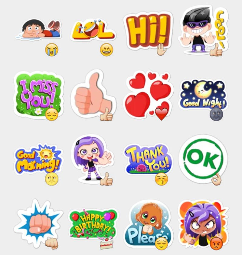 Viber Stickers Set.