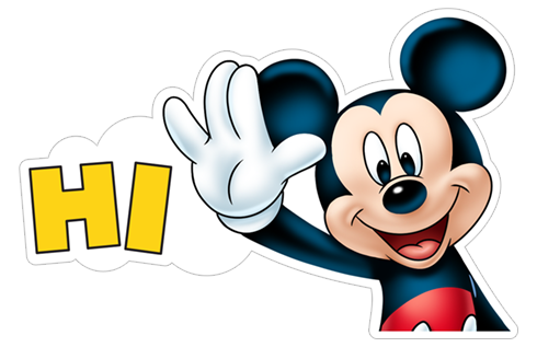 Free download «Mickey Mouse» Viber sticker #2.