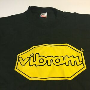 Details about Vtg Vibram Soles Black SS T Shirt tee Single Stitch Shoes Sz  XL.