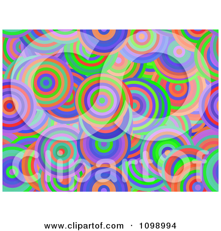 Clipart Seamless Background Of Vibrant Circles.
