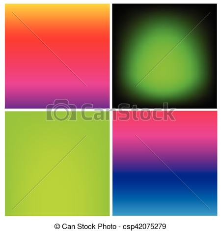 Vectors Illustration of Collection of gradient vibrant color.