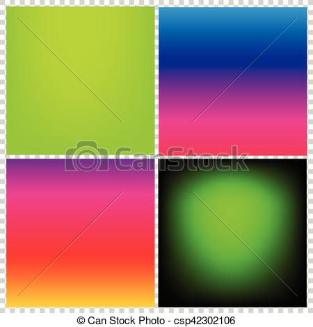 Vector Clipart of Collection of gradient vibrant color smooth silk.