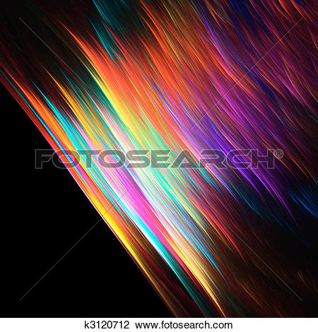 Clip Art of Abstract vibrant color background k3120712.