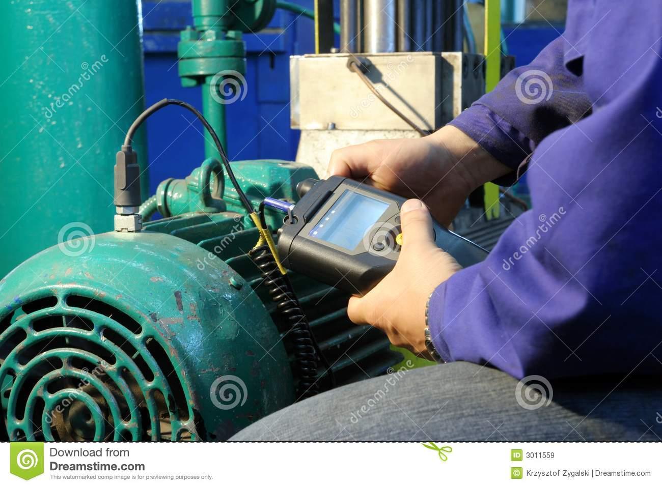 Measurement Engine Vibration Royalty Free Stock Images.