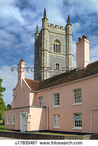 Picture of England, Essex, Dedham. The Vicarage at Dedham, with.