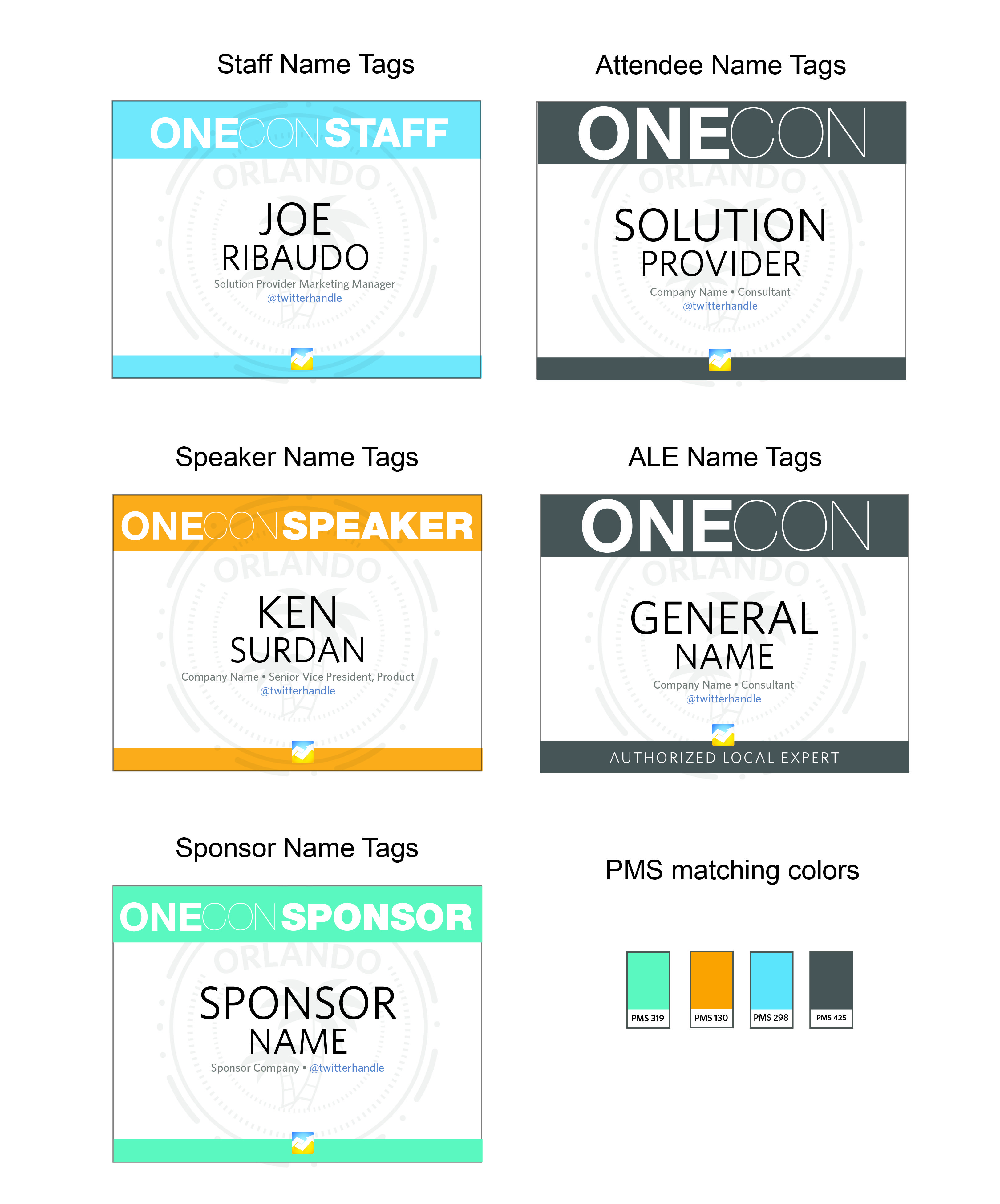 Name tag design.