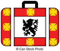 Clipart of Flag of Sao Vicente, Brazil..