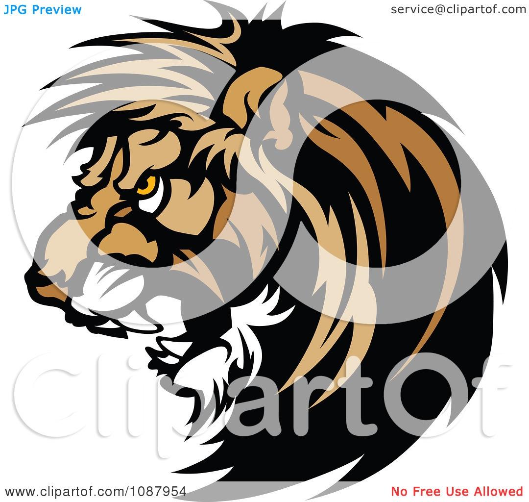 Vicious Lion Clipart.