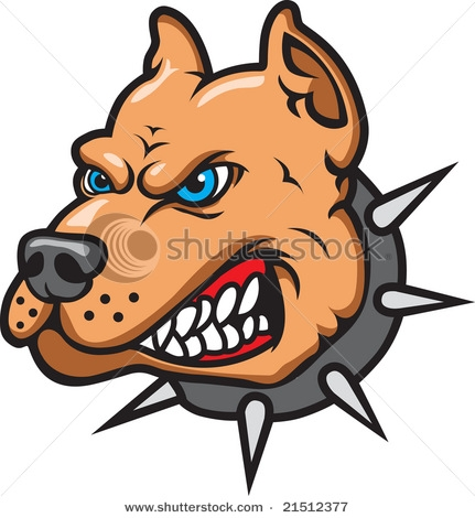 Clipart Of Vicious Dog.