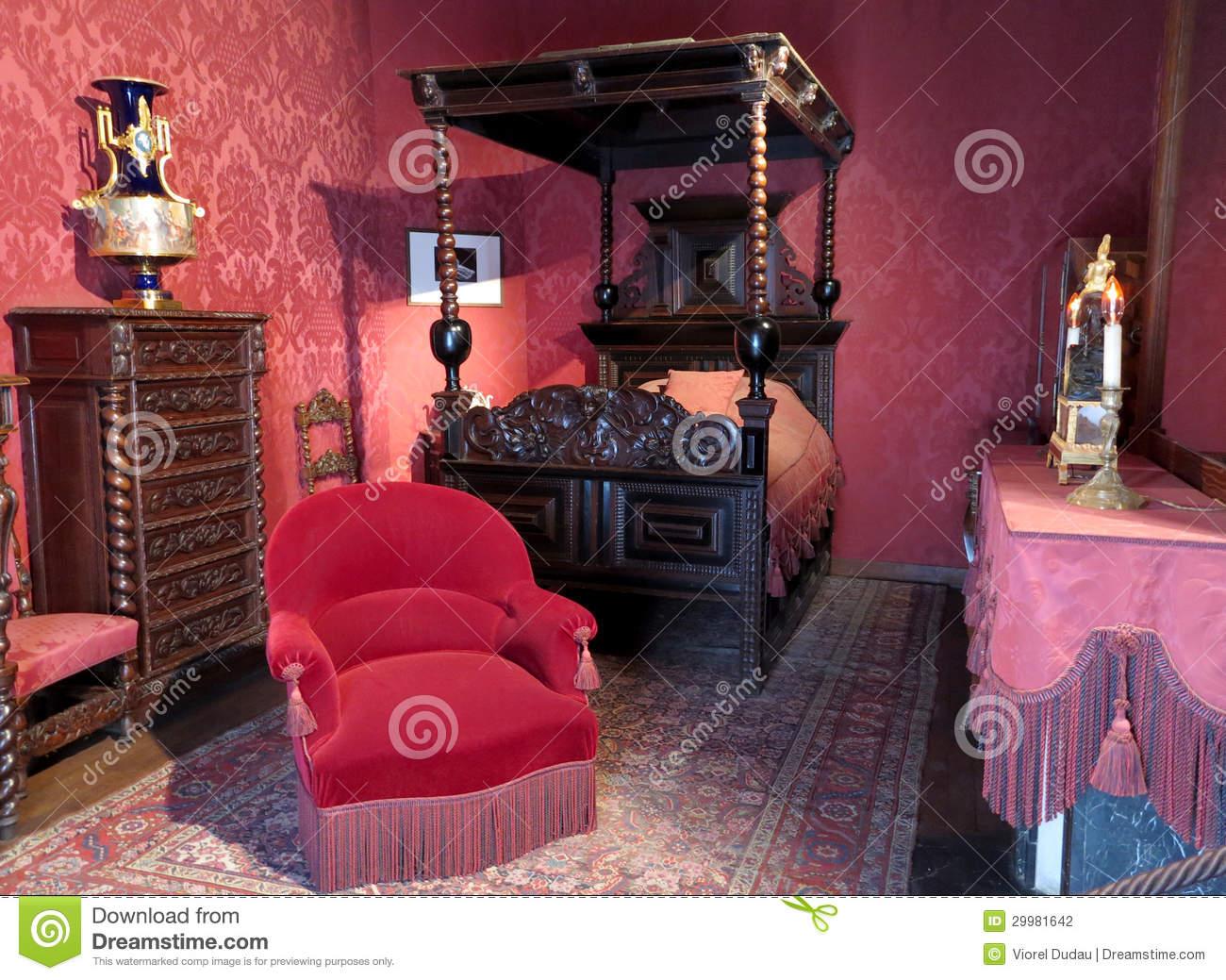 Victor Hugo's Bedroom Editorial Photography.