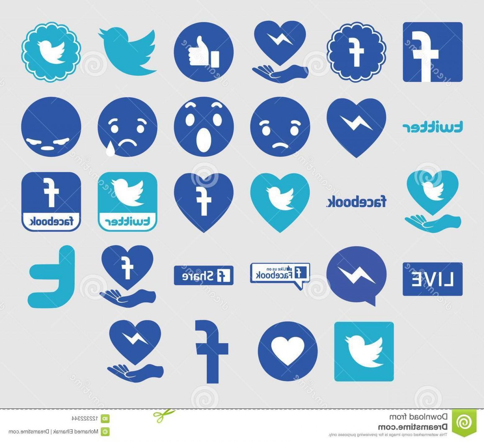 Download Logos Facebook Twitter Messenger Like Share Vectors.