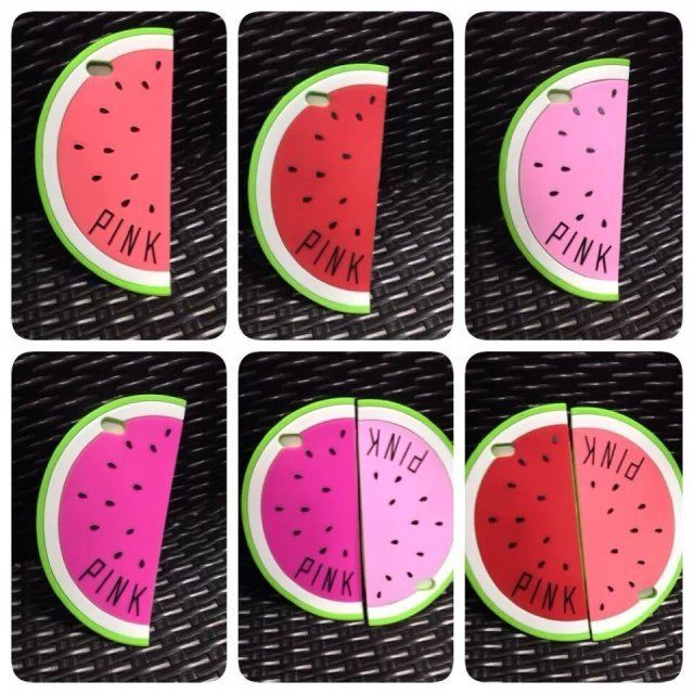 Victoria /s Secret PINK Watermelon Silicone Case Cover For iPhone.