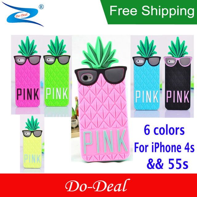 Victoria/s Secret PINK Case 3D Silicone Funny Fruit Pineapple.
