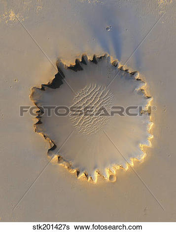 Stock Images of Victoria Crater on Mars stk201427s.