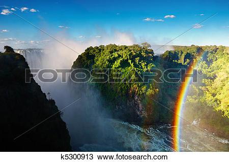 Stock Photo of Victoria Falls k5300913.