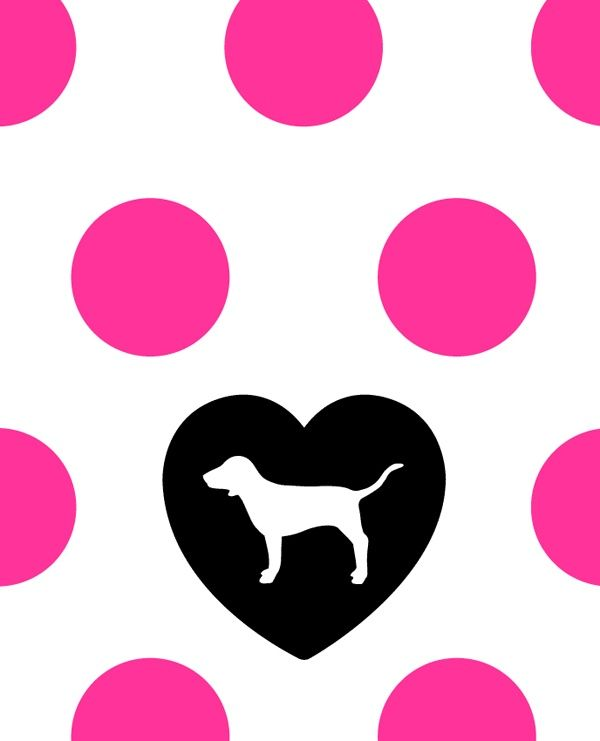 Victoria Secret Pink Dog Logo.