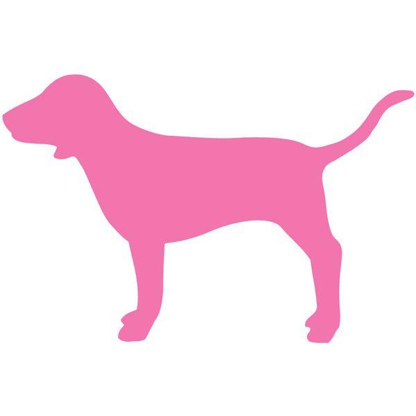 Victoria Secret Dog Silhouette.
