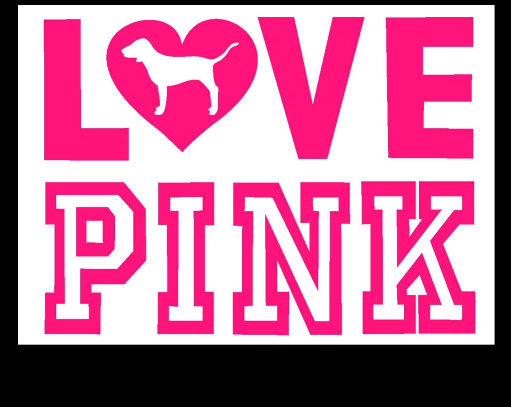 PINK Sticker Love Pink #2 (1) 4.
