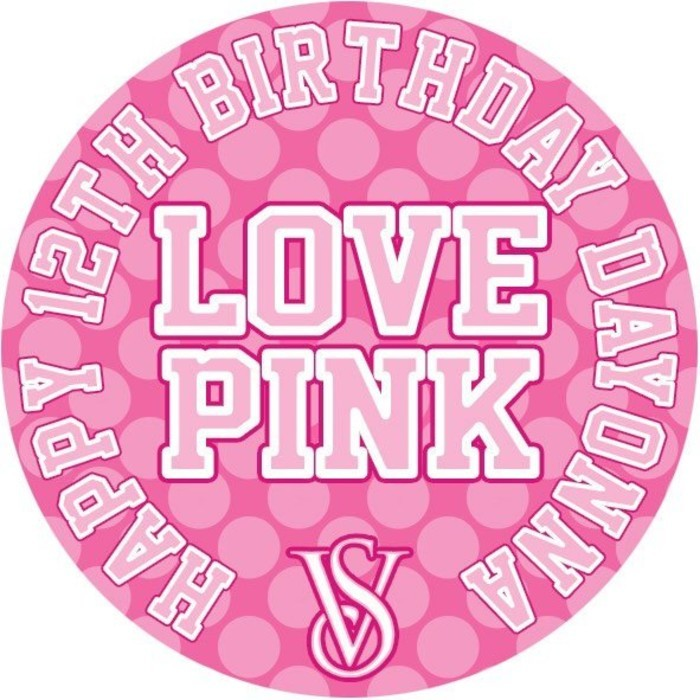Love Pink Victoria\'s Secret Personalised Lollipop party.