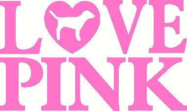 Love Pink Victoria Secret vinyl decal sticker laptop auto.