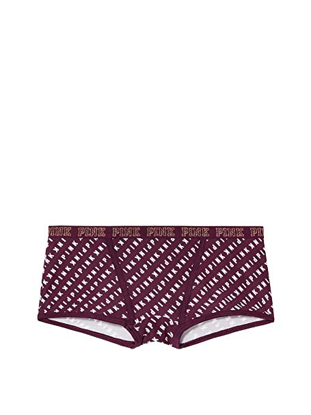 Victoria\'s Secret Pink Lurex Logo Boy Short Panty Large.