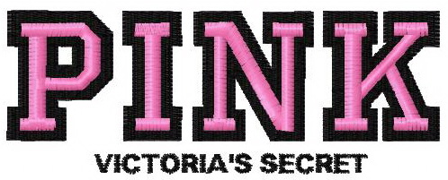 Victoria\'s Secret Pink logo embroidery design.