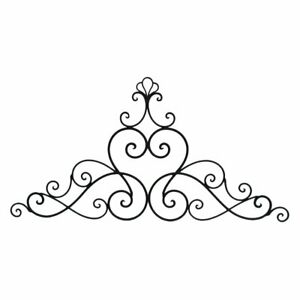 Details about Three Hands 40 in. Black Metal Victorian Scroll Wall Accent.