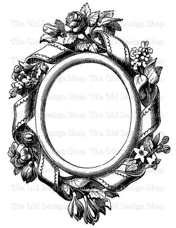 Vintage Clip Art Frame 1 Printable Victorian Ornamental.