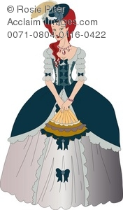 Clipart Illustration of a Victorian Era Woman.