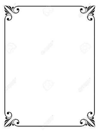 Image result for simple victorian border.
