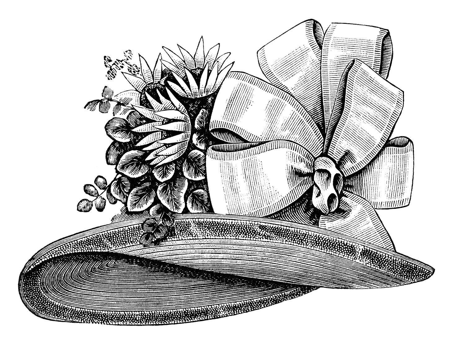 victorian ladies hat, old fashioned hat, victorian fashion.
