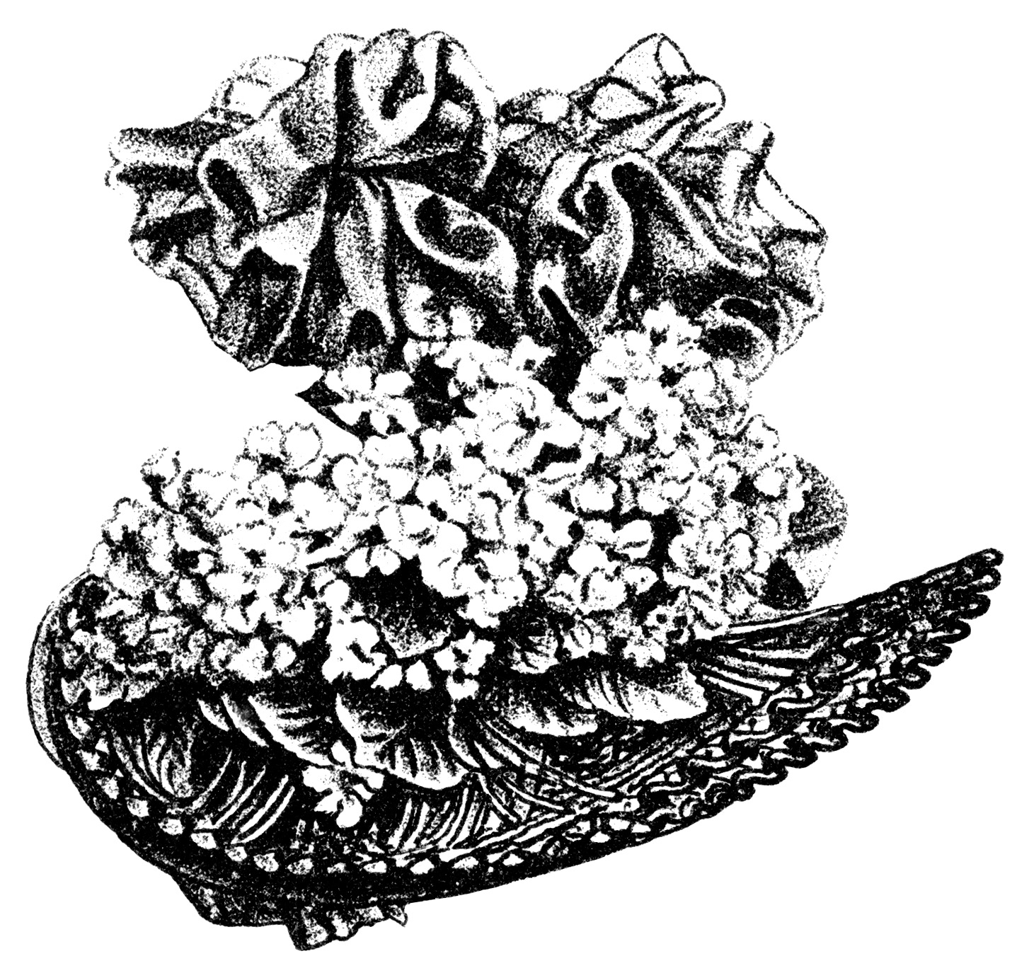 Victorian Ladies\' Hats ~ Free Clip Art.