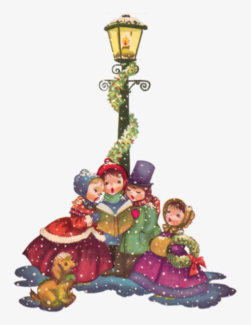 Vintage Christmas Carolers Png Clip Art Big.