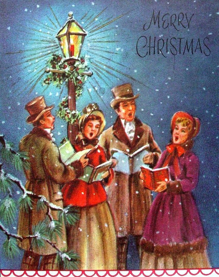 Caroling clipart christmas light post, Picture #155621.