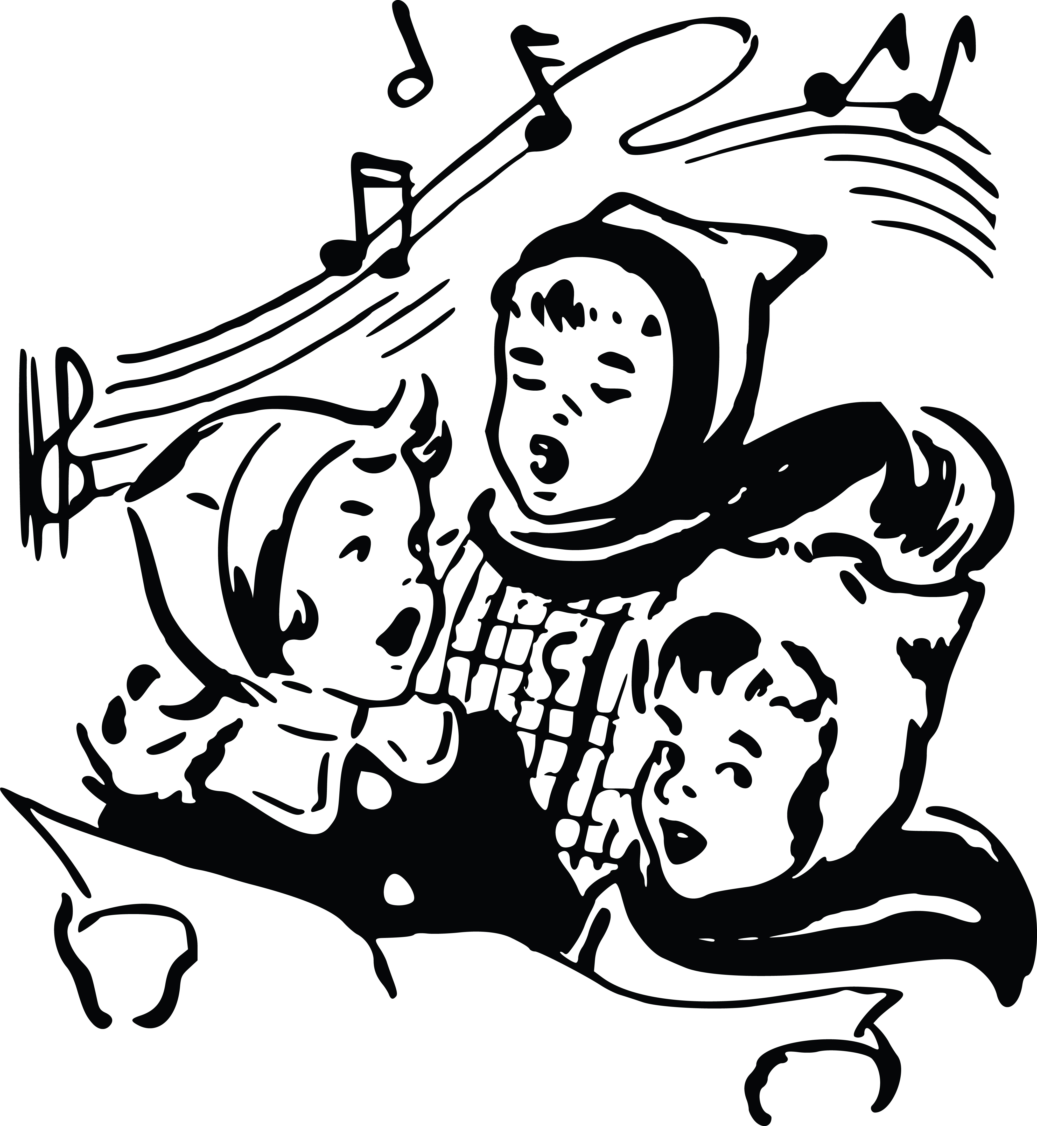 45 Christmas Carolers free clipart.