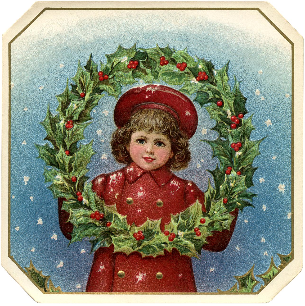 Victorian Christmas Clip Art.