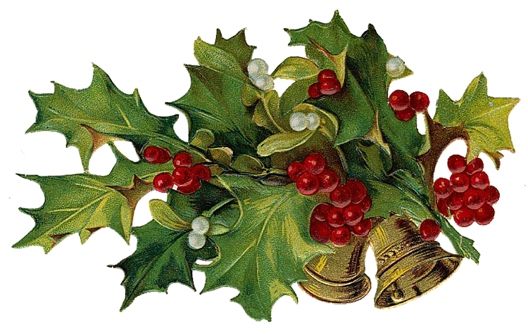 Victorian Christmas Tree Clipart.