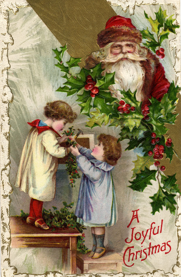 Free Victorian Christmas Clipart.