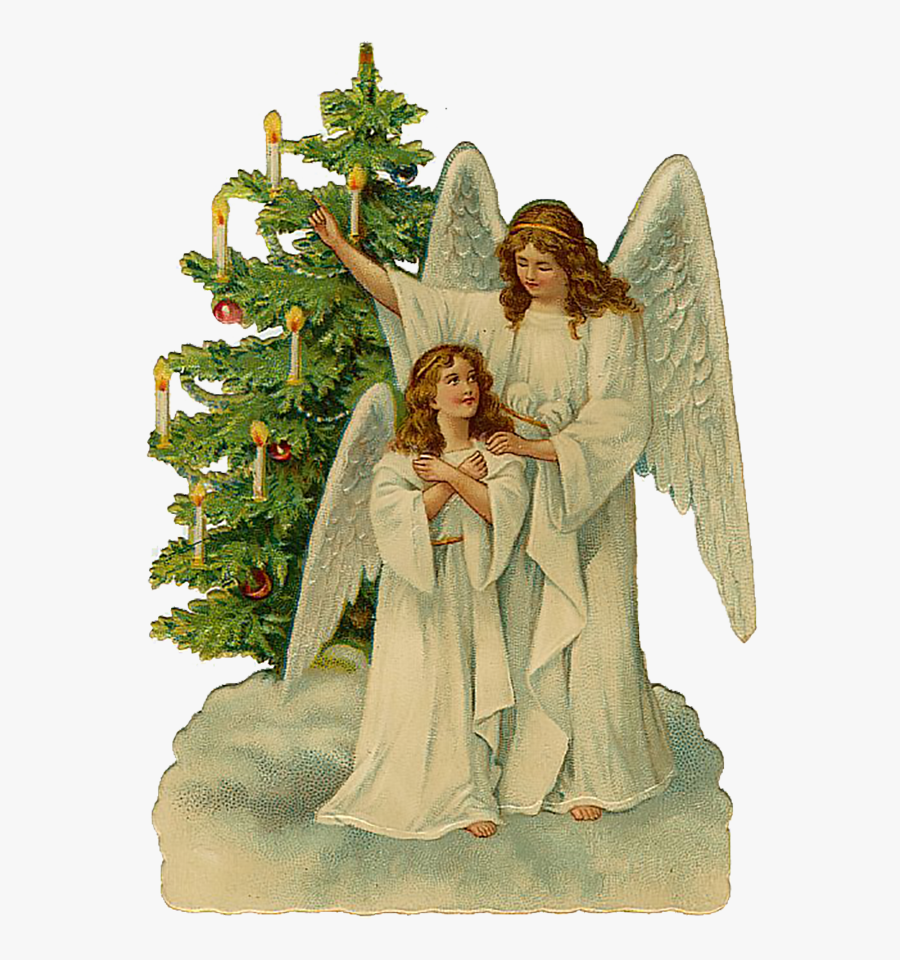 Angel Christmas Greetings Clipart.