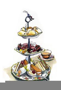 Victorian Christmas Tea Clipart.