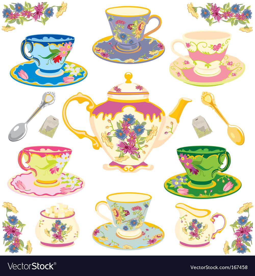 Victorian tea set.