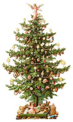 victorian christmas tree clip art 10 free Cliparts ...