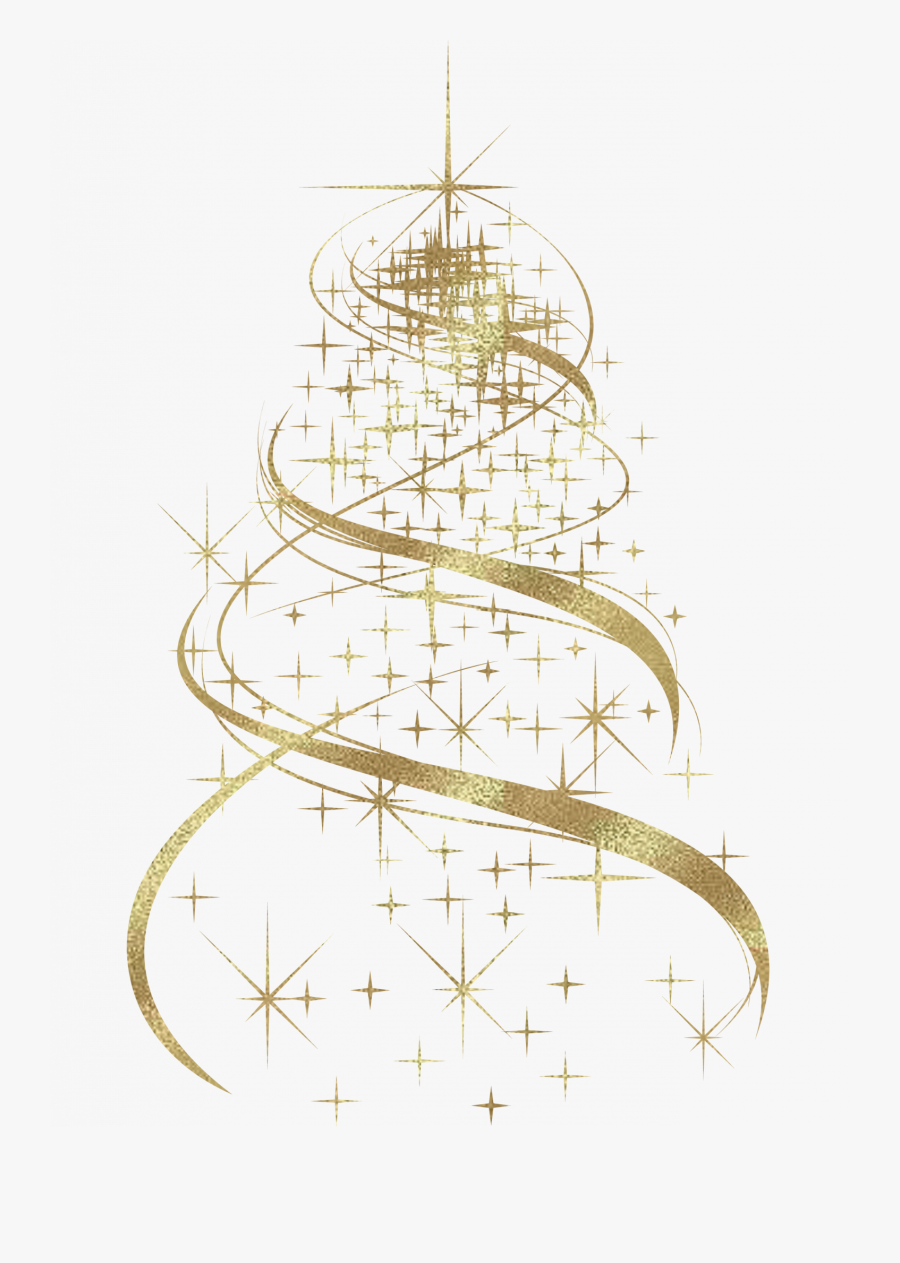 Transparent Victorian Christmas Tree Clipart.