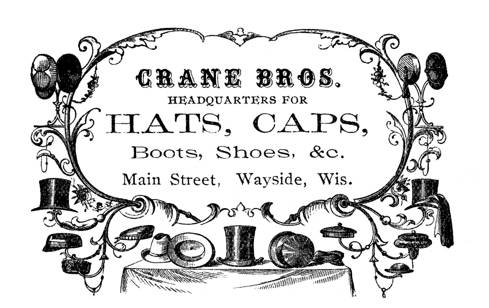 Vintage Advertising Clip Art.