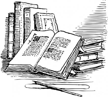 Books clipart vintage, Books vintage Transparent FREE for.